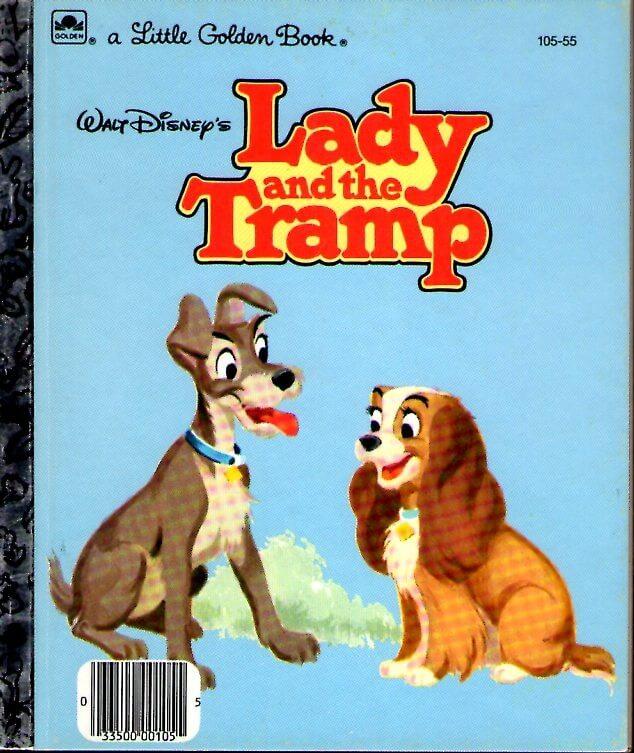 (洋書・英文)Lady and the Tramp (邦題 わんわん物語)(LITTLE GOLDEN BOOKS)